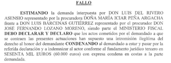 Sentencia contra Bárcenas.