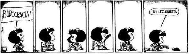 Una de las múltiples viñetas de Quino.