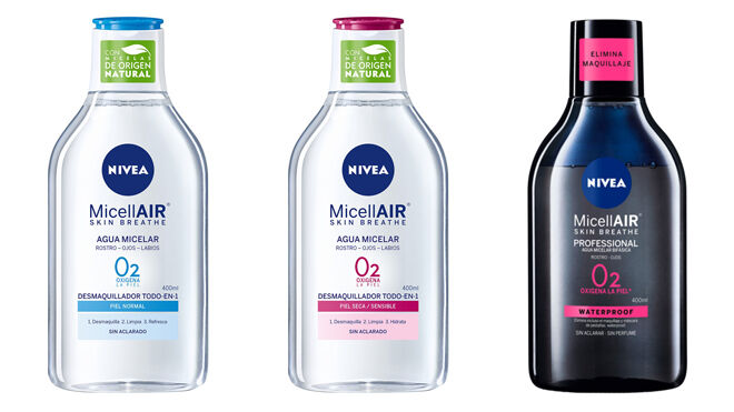 Aguas micelares. PVP: 3.79€ (piel normal y piel seca y sensible) y 3.99€ (waterproof)