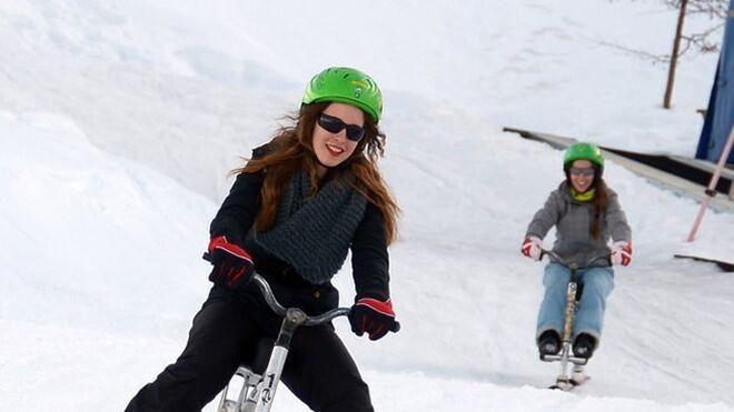Bici-esquí en Sierra Nevada.