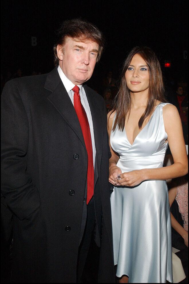 Donald Trump y Melania en 2003