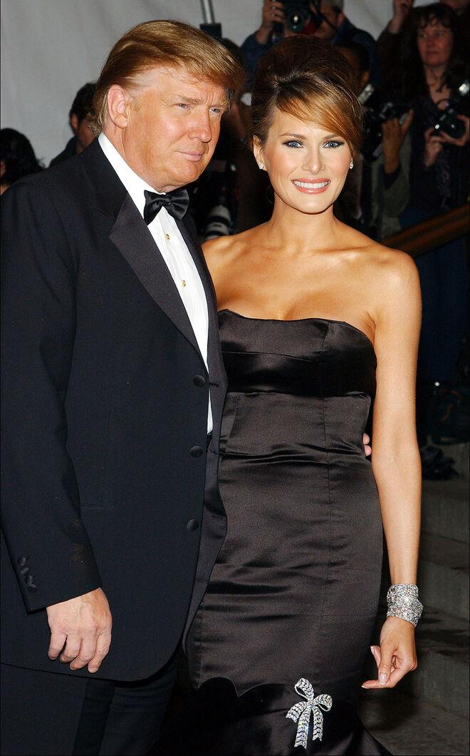 Donald Trump y Melania en 2005