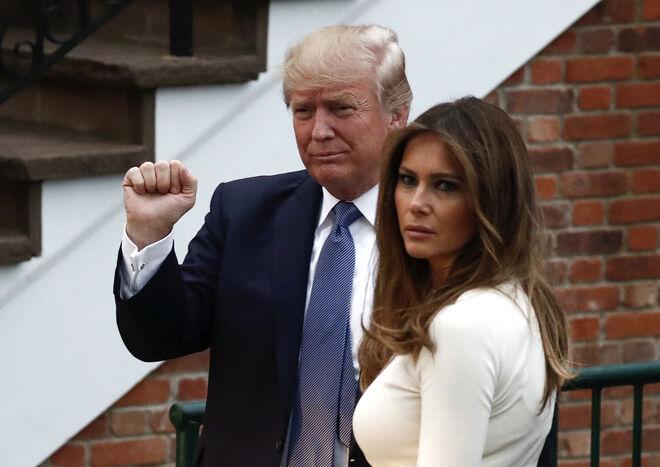 Melania y Trump en 2017
