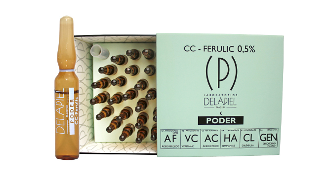 Ampollas con ácido ferúlico. PVP: 43.90€ (30 unidades)