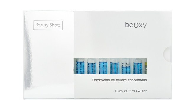 Caja de ampollas Beauty Shots. PVP: 49.90€ (10 unidades)