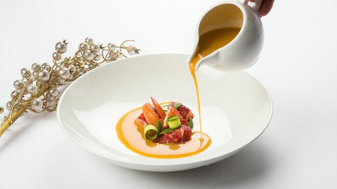 Caldereta de bogavante mediterráneo, uno de los platos incluidos en los menús festivos que ofrece el hotel.