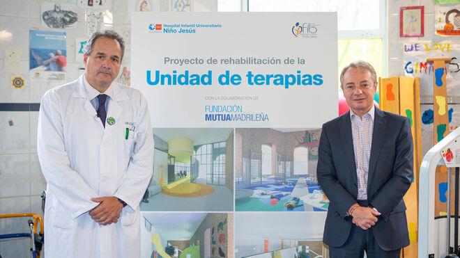 César Gómez, gerente del Hospital Niño Jesús y Lorenzo Cooklin, director gral Fundación Mutua