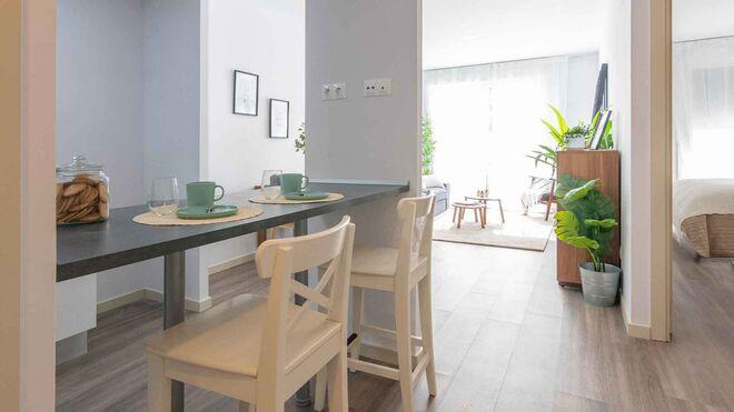 Imagen de uno de los pisos prefabricados en Móstoles.
