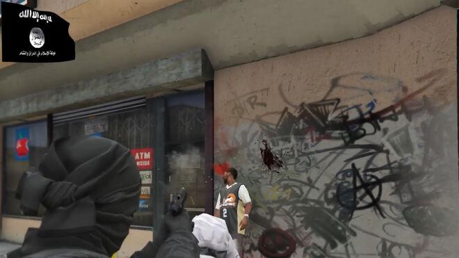 Imagen del videojuego difundido por los simpatizantes yihadistas