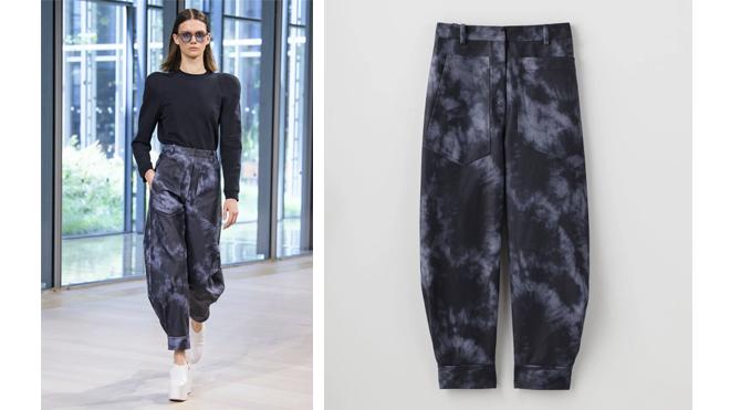 Pantalones con estampado tie dye