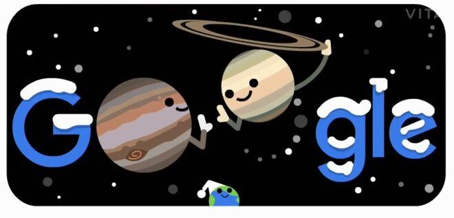 La gran conjunción entre Júpiter y Saturno.