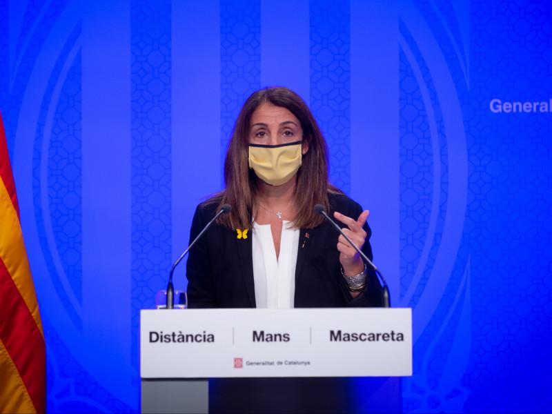La consellera de la Presidencia y portavoz del Govern de la Generalitat, Meritxell Budó.
