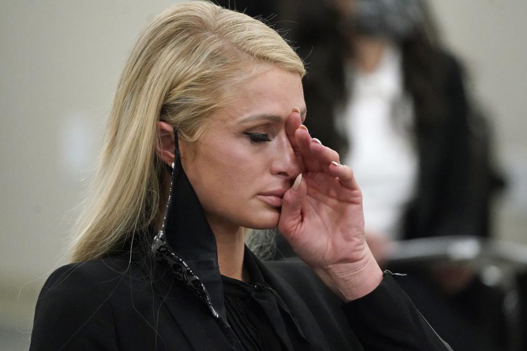 Paris Hilton durante la audiencia