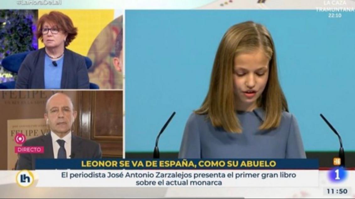 """TVE compara los estudios de Leonor en Gales con la huida del Emérito: """"Se va, como su abuelo"""""""