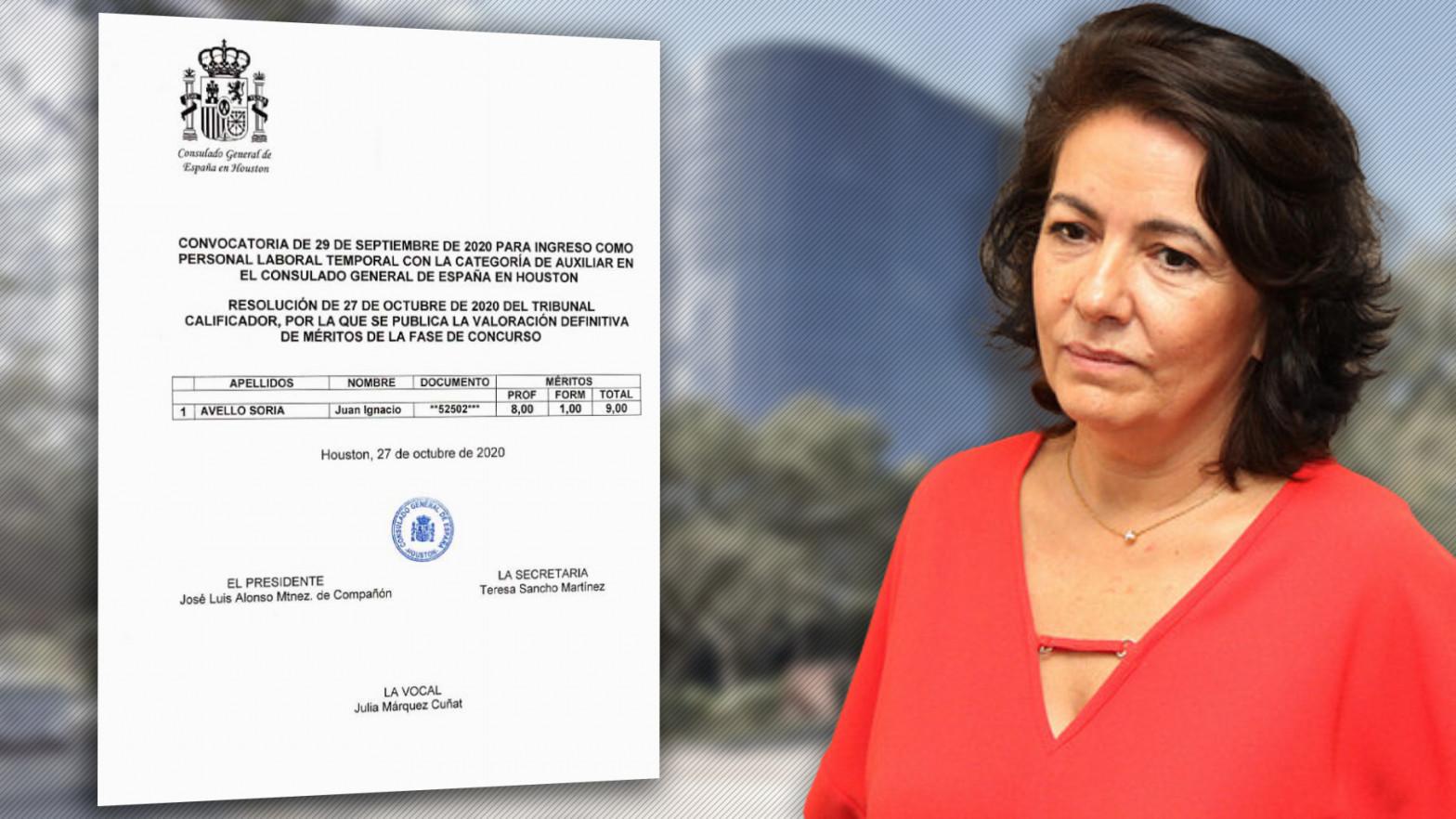 La cónsul española en Houston contrata a su marido