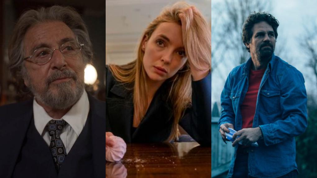Nominados a los Globos de Oro: Al Pacino (Hunters), Jodie Comer (Killing Eve) y Mark Ruffalo (I Know This Much is True).