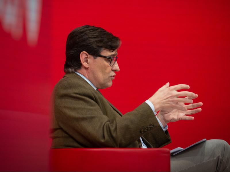 El candidato al PSC y exministro de Sanidad, Salvador Illa.