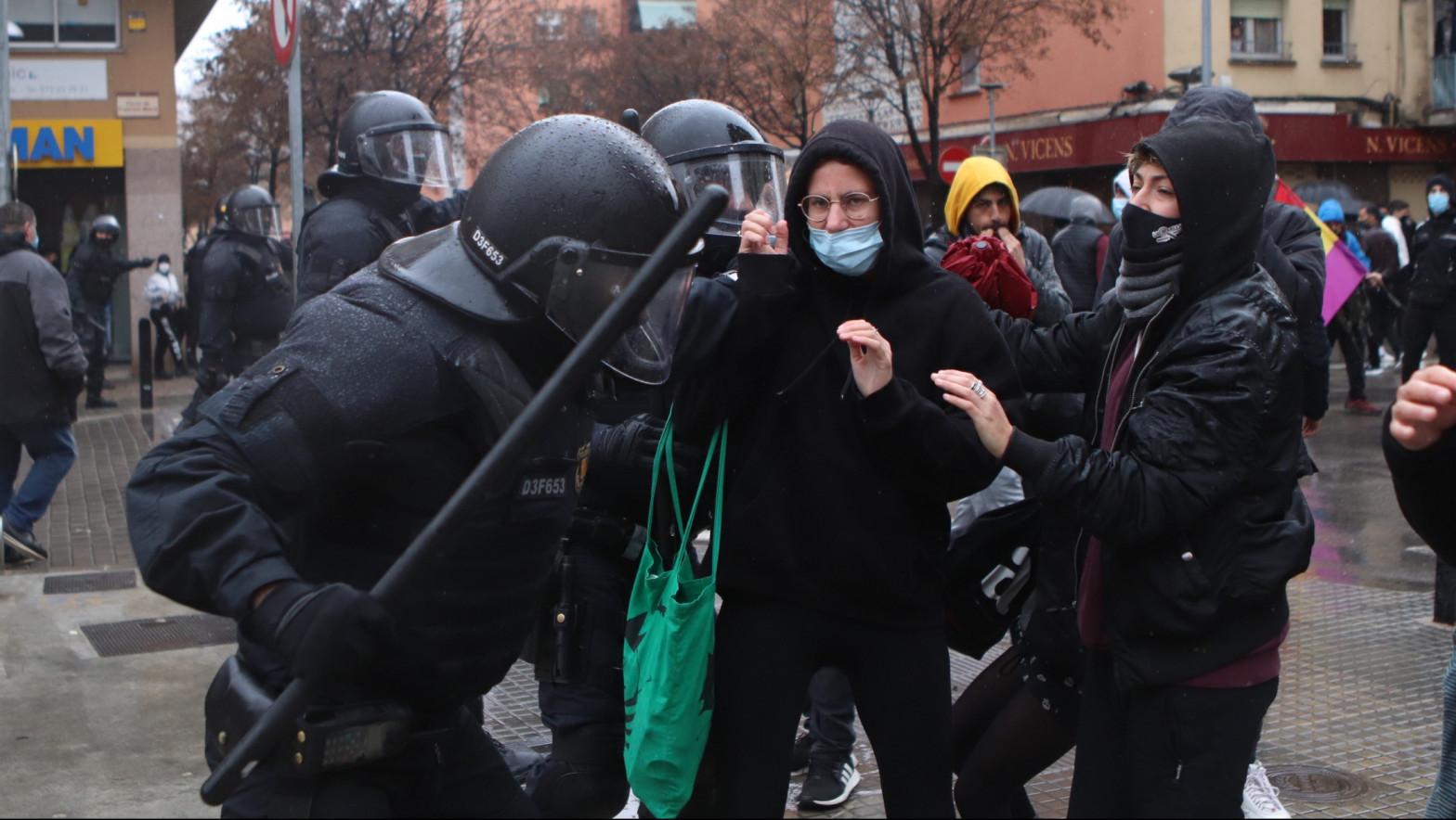 Disturbios tras un acto de Vox en Salt (Girona)
