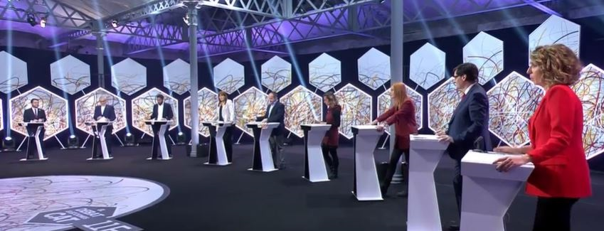 Los candidatos del 14-F en el debate de La Sexta. Europa Press.