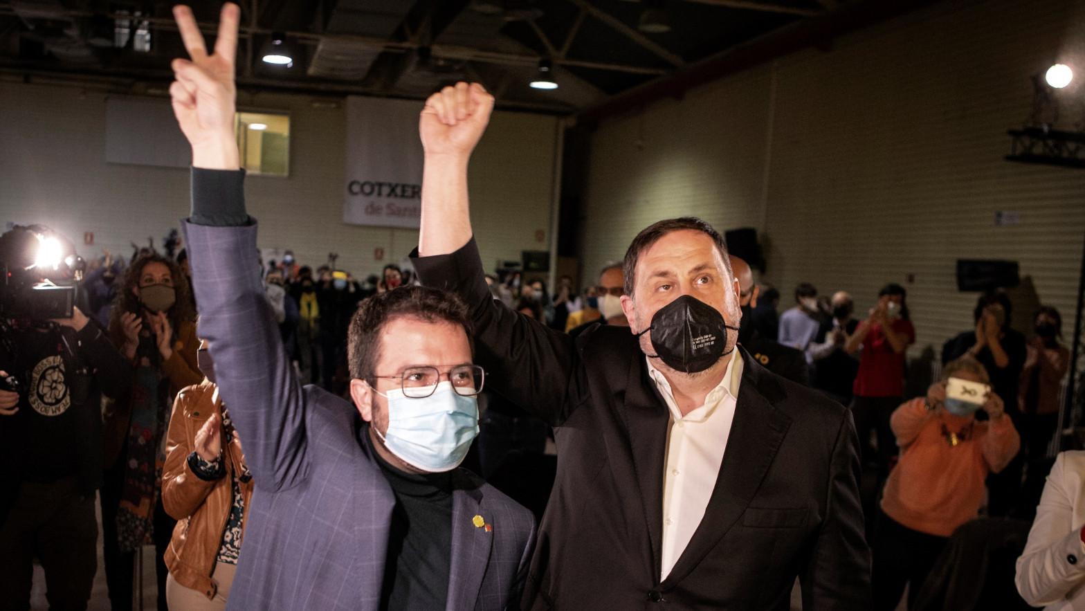 Acto final de campaña de ERC, que ahora pide un nuevo referéndum de autodeterminación.