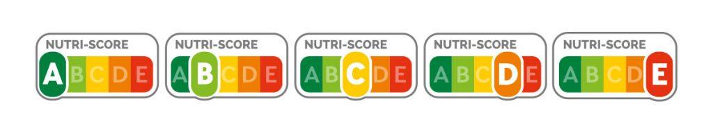 Etiquetado de Nutriscore.