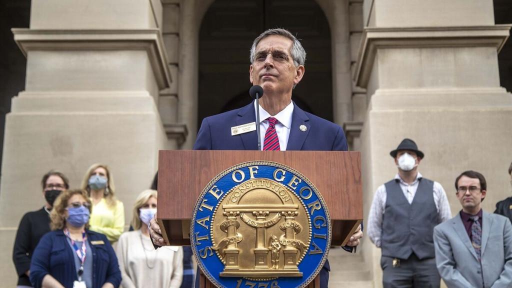 El secretario de Estado de Georgia, Brad Raffensperger, la máxima autoridad electoral del estado.