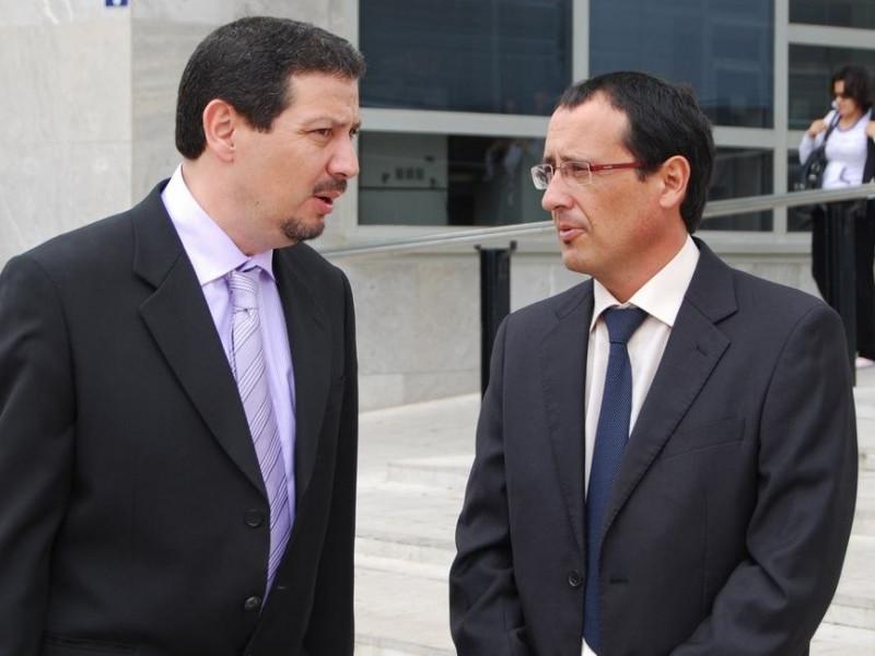 Dionisi Muñoz y Mustafa Aberchán, líderes del PSOE y del CpM en Melilla.