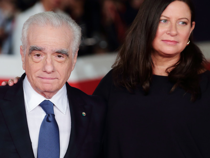Martin Scorsese y la productora Emma Tillinge.
