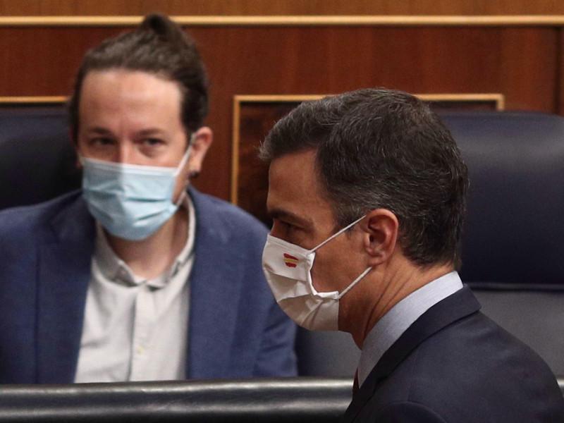 El presidente del Gobierno, Pedro Sánchez, y el vicepresidente segundo, Pablo Iglesias.