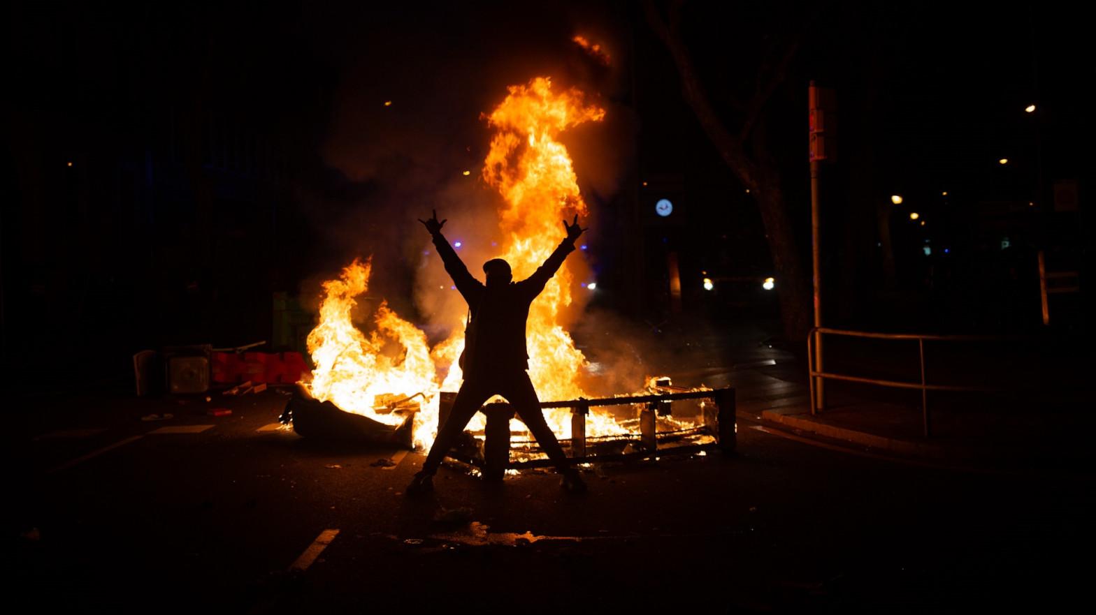 Los disturbios por Hasel causaron daños en Barcelona de un millón de euros