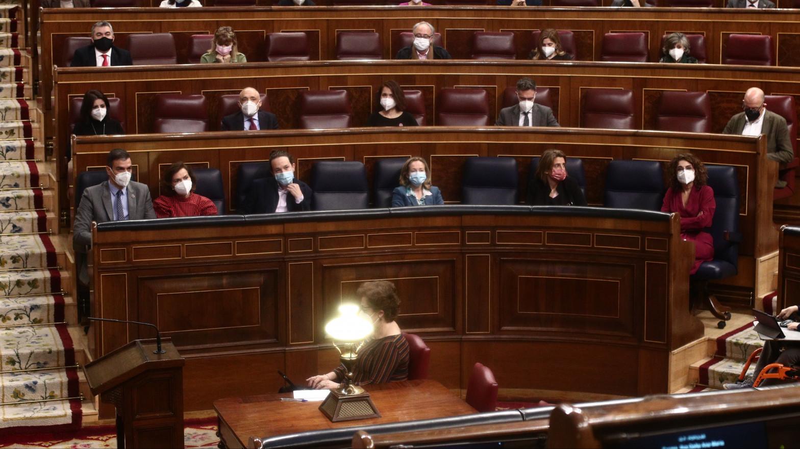 El Gobierno, en la última sesión de control.