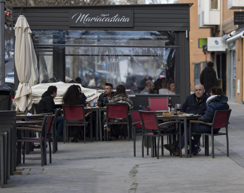 Terraza en un bar en Madrid
