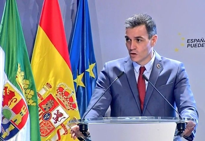 El presidente del Gobierno, Pedro Sánchez, presenta el Plan de Recuperación en Mérida.
