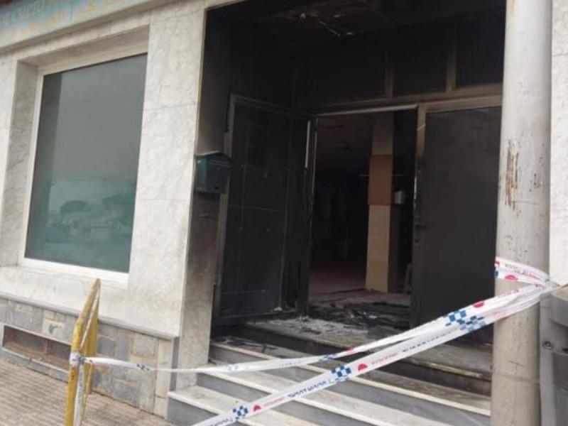 El centro islámico Assafwa, en la localidad murciana de San Javier, tras el incendio.