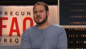 El rapero Pablo Hasel, durante una entrevista en TV3.