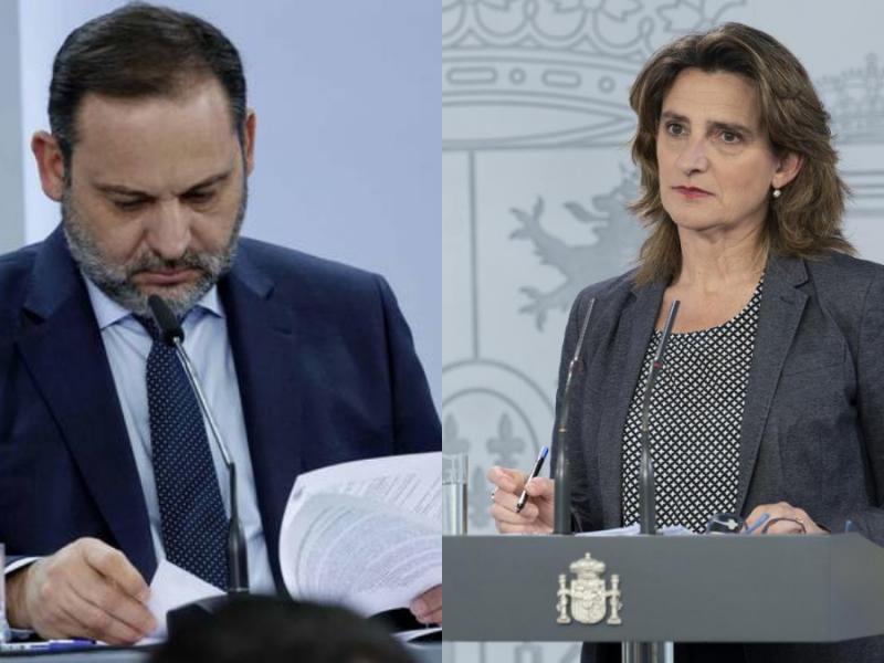 José Luis Ábalos y Teresa Ribera.