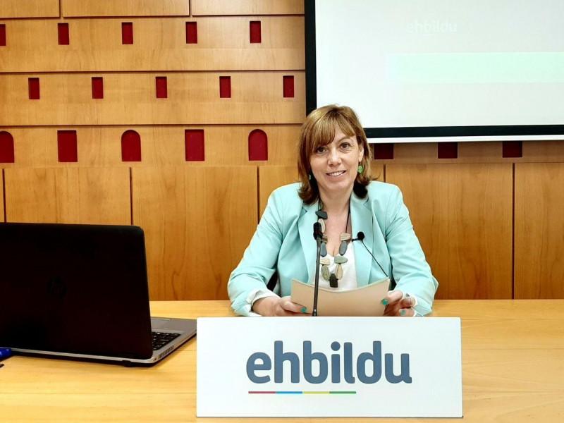 La portavoz municipal de EH Bildu en el Ayuntamiento de Vitoria, Miren Larrion.