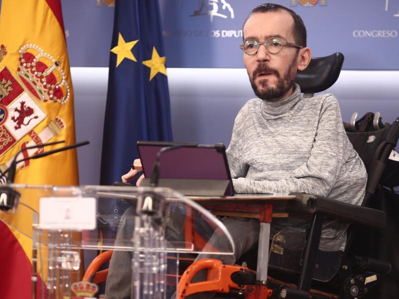 Pablo Echenique, en rueda de prensa.