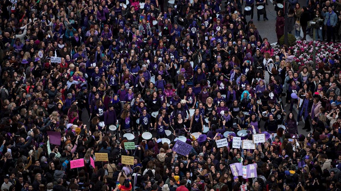 Manifestación del 8-M en 2020.