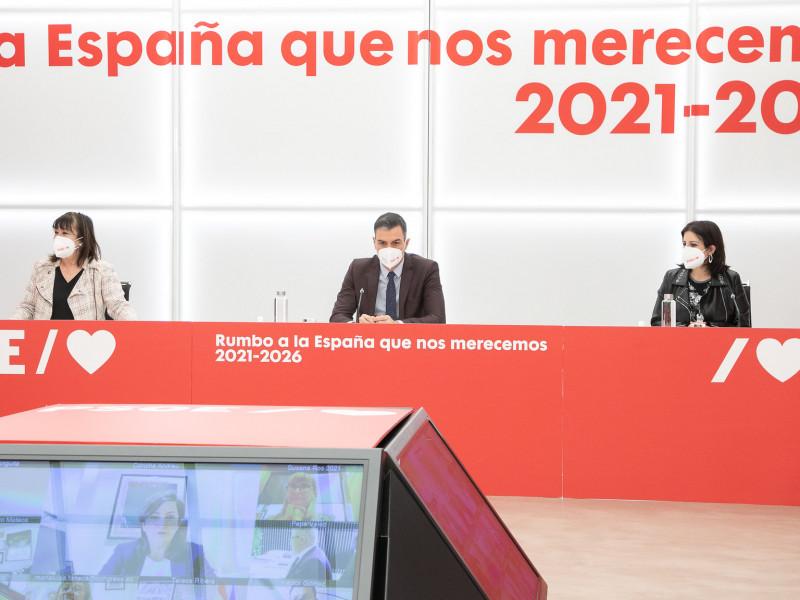 Sánchez prohíbe al PSOE acudir a las manifiestaciones feministas del 8-M para no dar munición al PP
