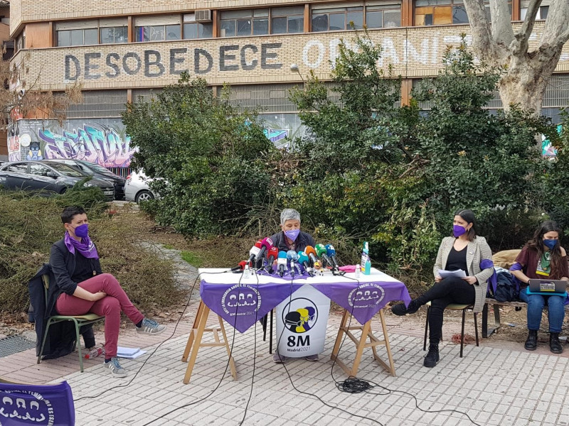 La Comisión 8-M convoca concentraciones con menos de 500 personas en 4 plazas de Madrid