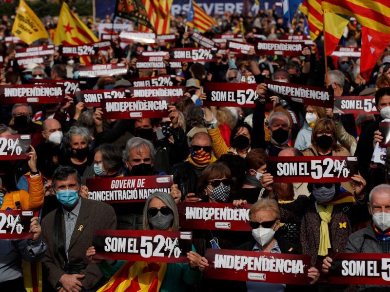 Cataluña: Pinchazo en la manifestación de la ANC para exigir a ERC un Govern independentista
