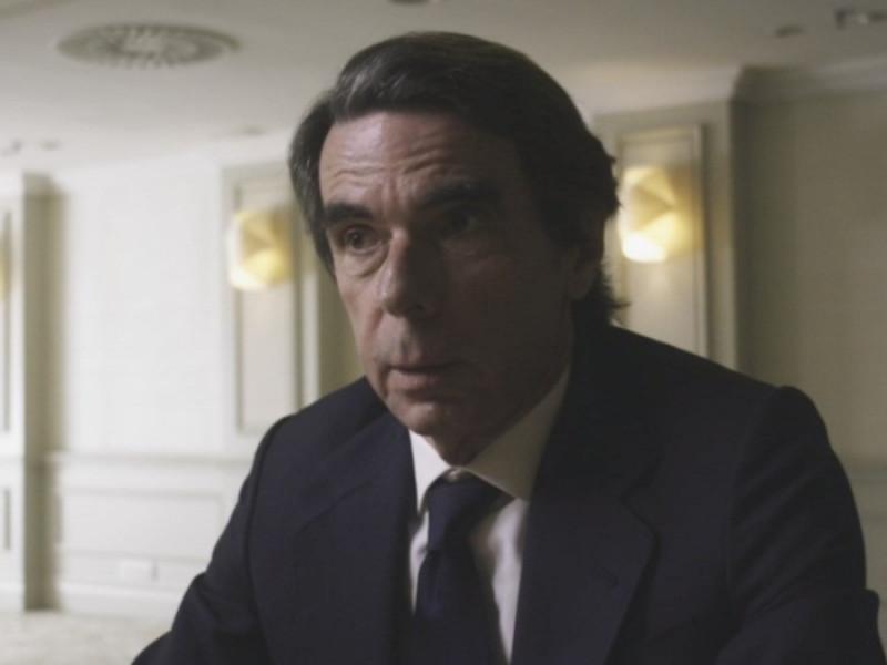 El expresidente del Gobierno José María Aznar, durante su entrevista en 'Lo de Évole'.
