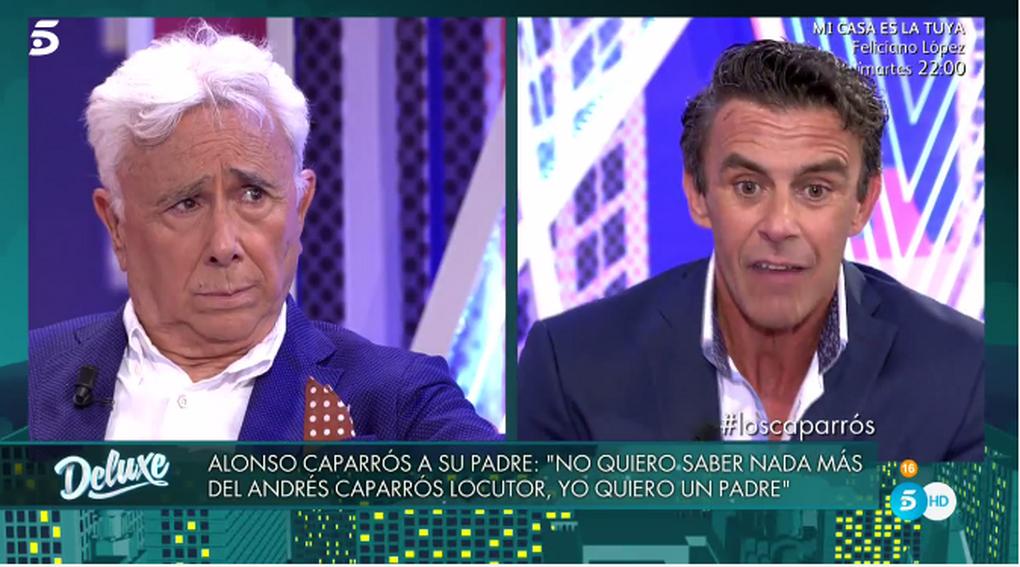 """Alonso Caparrós humilla y carga contra su padre y le invita a """"colgar una soga en el techo y suicidar al locutor"""""""