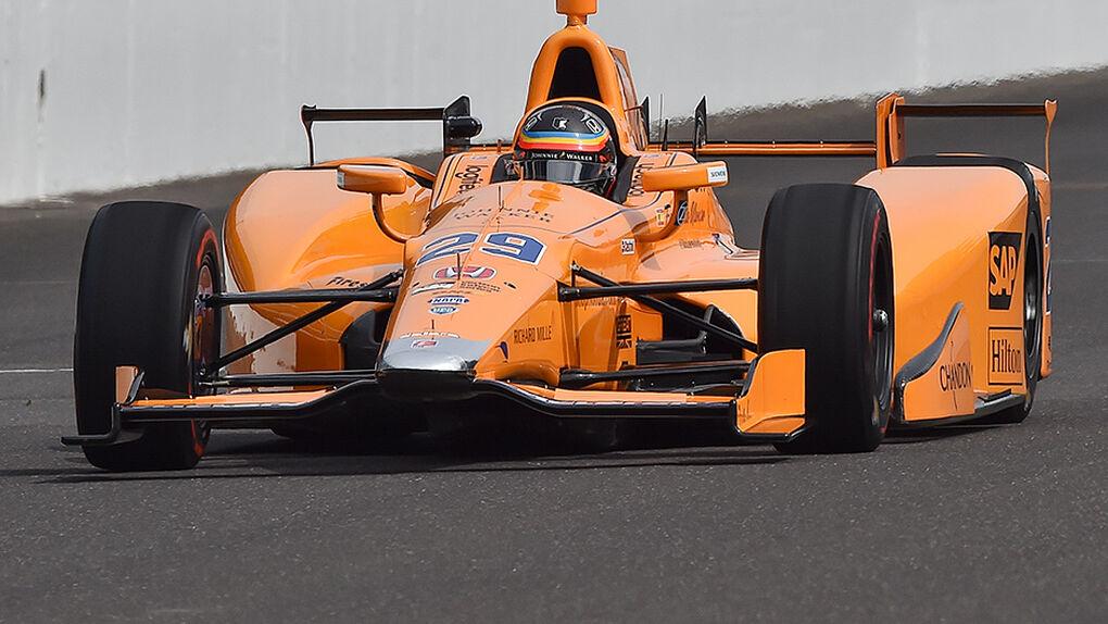 Impresionante Fernando Alonso: llegó a Indianápolis y marcó el mejor tiempo