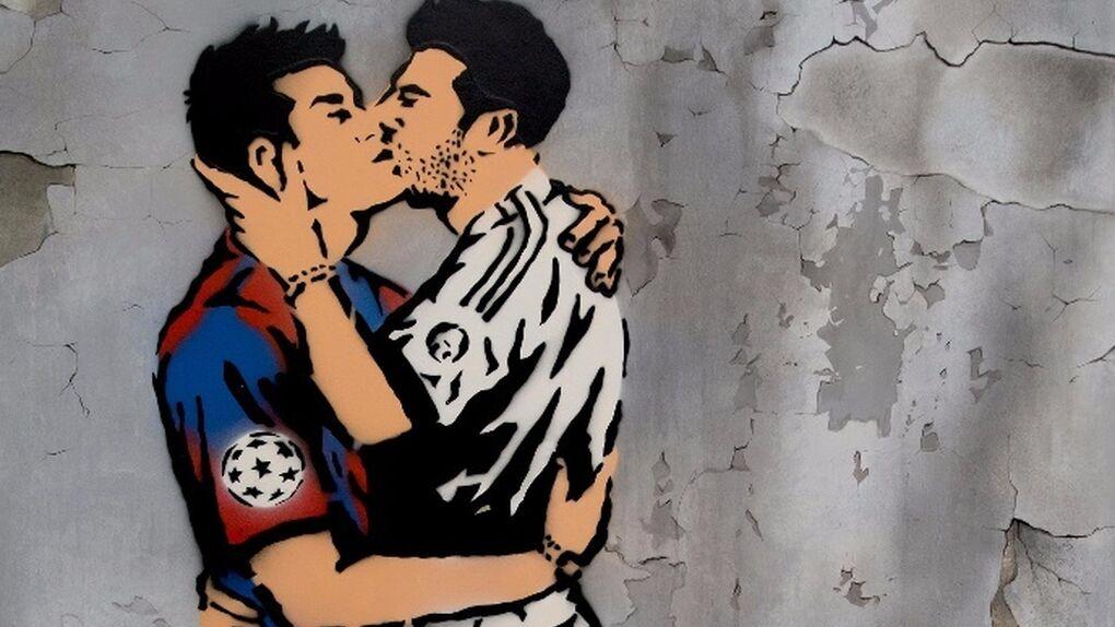 Antonio de Felipe pinta el amor prohibido entre un jugador del Barça y otro del Madrid