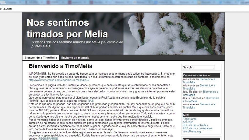 """Sol Melià exige el cierre de una web que asegura que su Club de Vacaciones es un """"timo"""""""