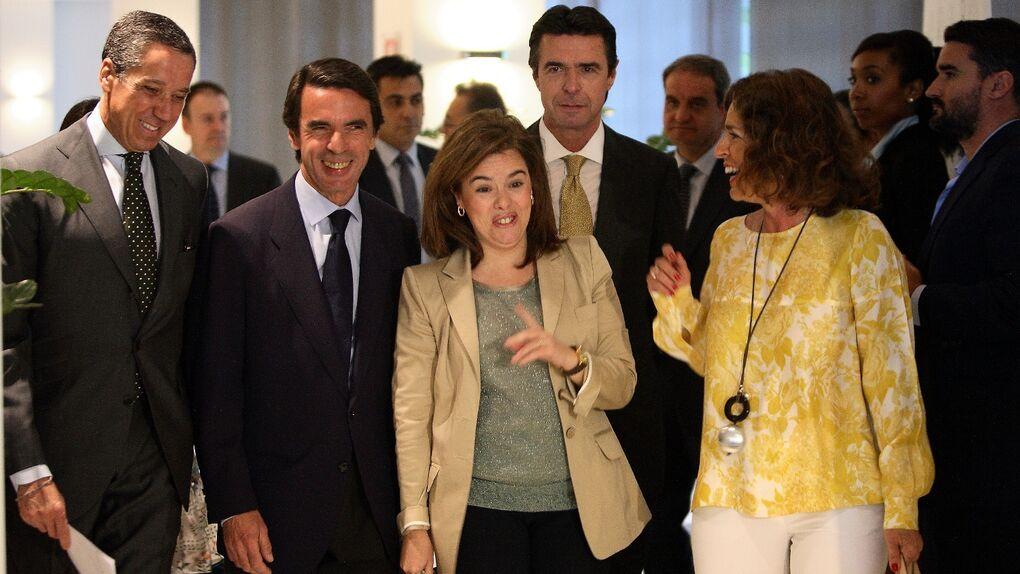 Aznar se enmienda la plana junto a Zaplana