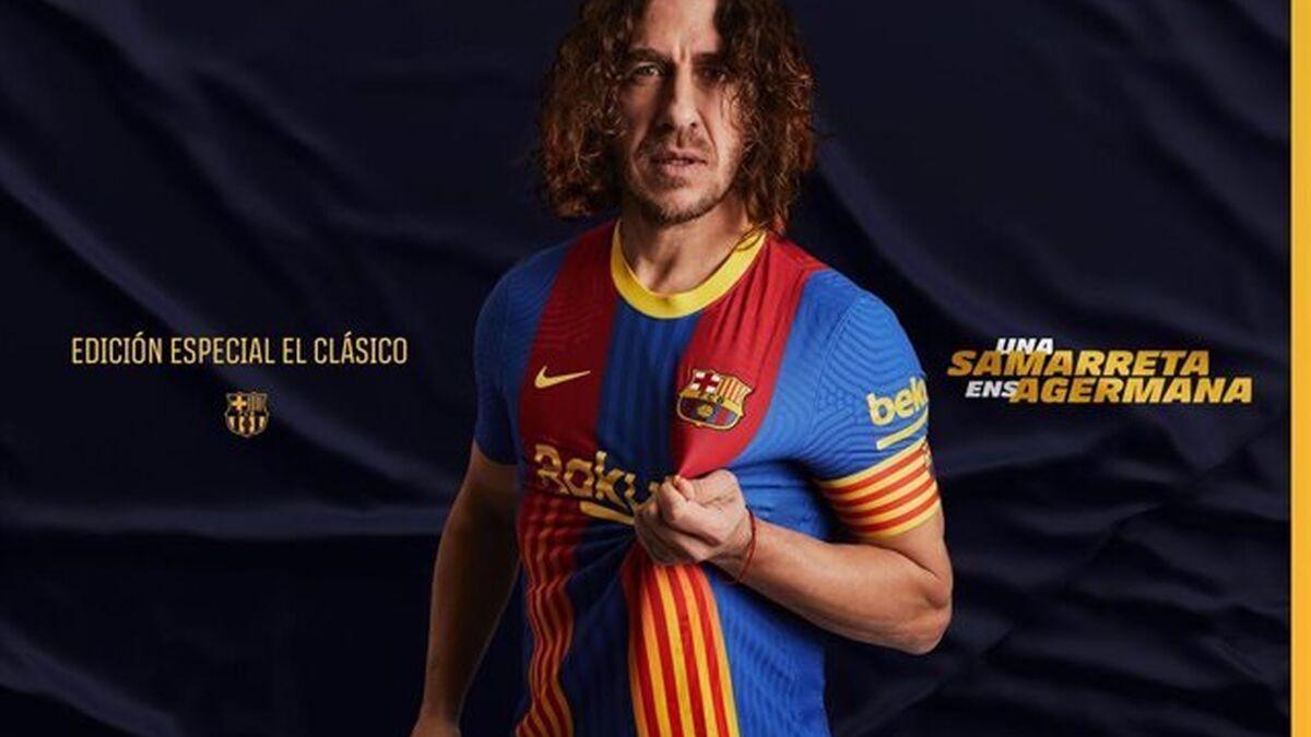 El Barça lucirá contra el Real Madrid una camiseta inspirada en Puyol con los colores del club y la señera