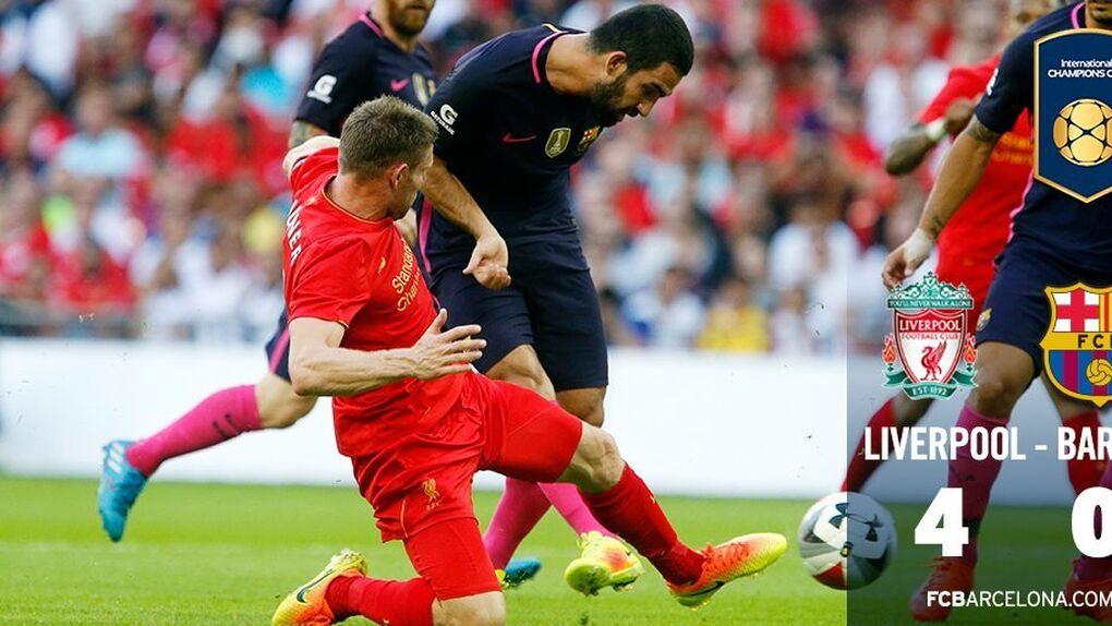 El Barça es goleado por el Liverpool (4-0) en su penúltimo partido de pretemporada